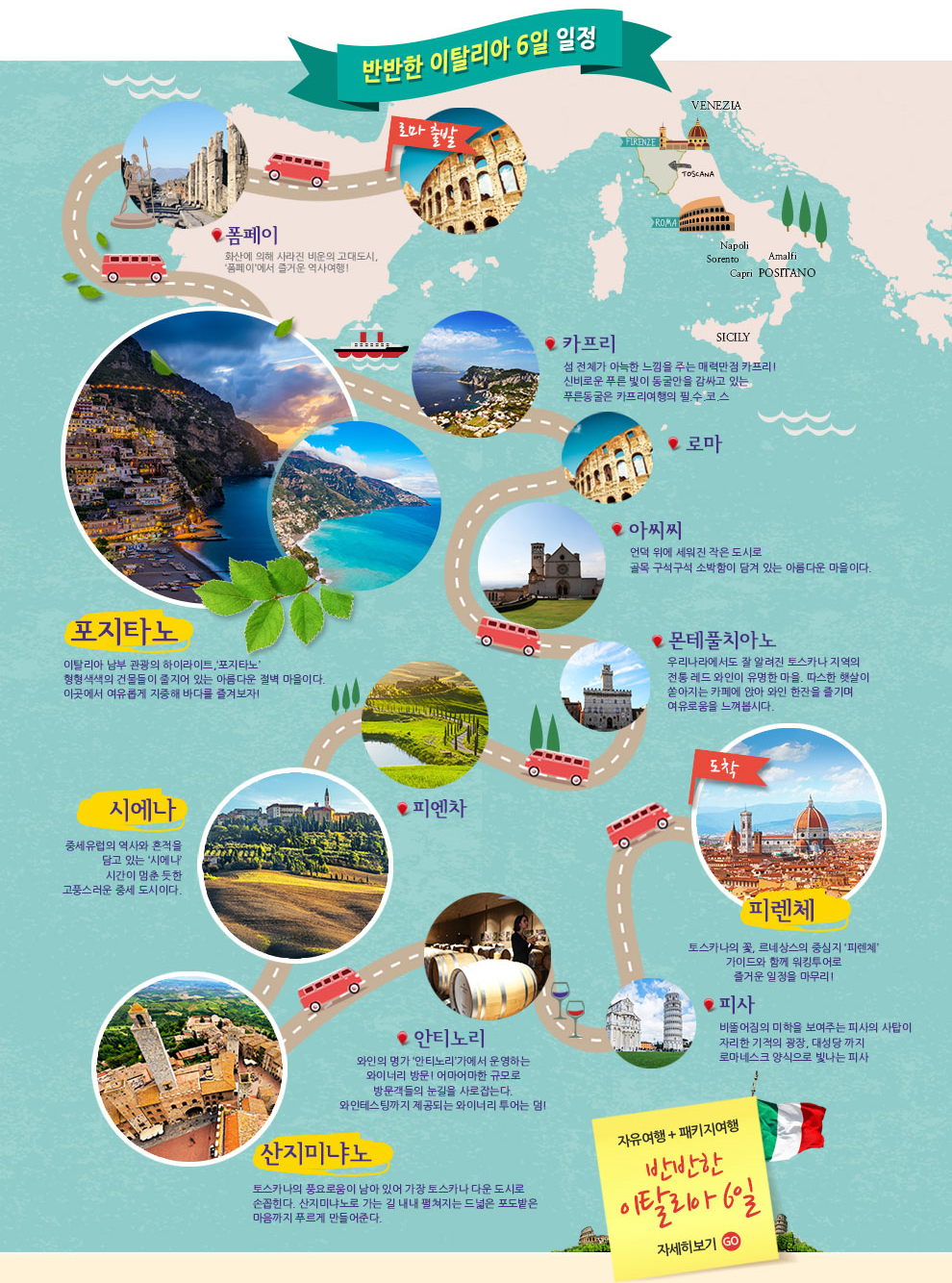 이오스여행사와 함께하는 WORLD EXPLORER ver.8 이탈리아&스위스 여행 서포터즈 공개모집-반반한 이탈리아 6일 일정